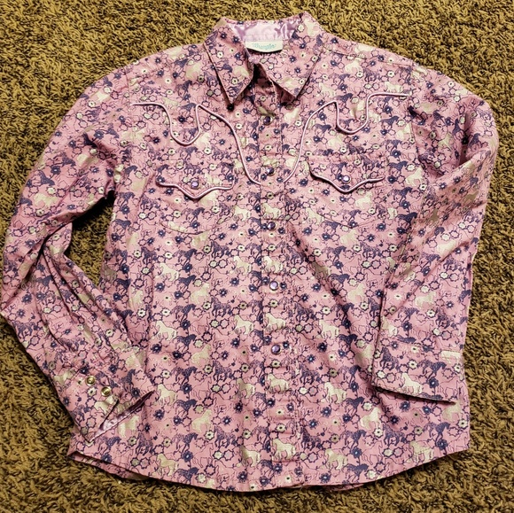 da335c2f wrangler Shirts & Tops | Girls Snap Up Western Shirt | Poshmark